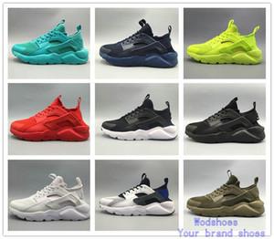 Los más nuevos de alta calidad Huarache IV zapatillas para hombres mujeres negro blanco zapatillas Triple Huaraches 4 para correr zapatos deportivos tamaño 36-46