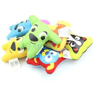 Оптово-a96 Бесплатная доставка 5pcs/lot собака игрушки Пэт щенок жевать пищалка скрипучий плюшевые звук симпатичные мультяшном стиле забавные игрушки