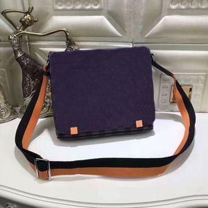N42405 جلد طبيعي للرجال رسول حقيبة حقيبة يد ساعي البريد damier حي حقيبة مصمم ميك حقيبة كروسبودي CX # 148 مع الأشرطة
