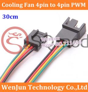 Computador PC Ventilador de Refrigeração de 4 Pinos para 3pin / 4pin PWM Converter Conector Cabo de Extensão de 30 cm de Alta qualidade ordem $ 18no faixa