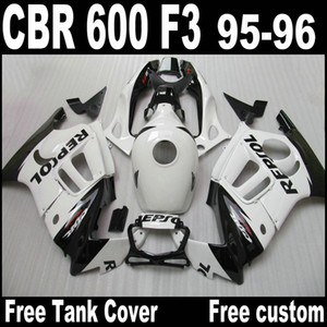 Kit de carenado ABS blanco REPSOL para carenado de reparación de carrocería Honda CBR 600 F3 95 96 CBR600 F3 1995 1996 CBR 600