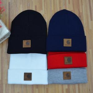 Sombrero de moda Sombrero de invierno otoño invierno cálido sombrero de punto gorra de esquí cap gorro de lana hiphop movimiento de la personalidad hip hop tapa de tejer A ++++