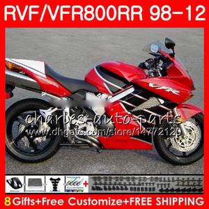 VFR800 Para HONDA Interceptor negro rojo VFR800RR 98 99 00 01 02 03 04 12 90NO59 VFR 800 RR 1998 1999 2000 2001 2002 2003 2004 2012 Carenado