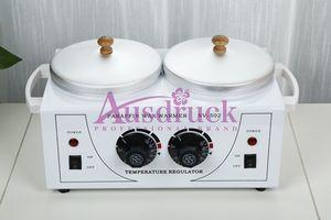 EU tex free Doppeltöpfe Wax Warmer Heater Dual Salon Heiße Gesichtshaut Ausrüstung SPA