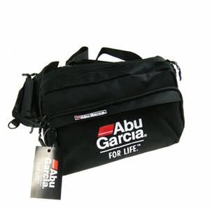 Quente!! 1 PCS ABU Cintura Tackle Bag bolsos Cintura pacote de Equipamento de Pesca Sacos De Pesca bolsa voar isca bolsos tecidos À Prova D 'Água