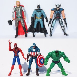 "The Avengers Ensemble de 6 Marvel Hero Capitaine Iron Man the Hulk 7 ""Action Figure Poupée en Plastique PVC Jouets Film Cartoon Dessin Animé Détail"