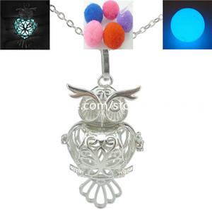 Difusor da fragrância do perfume do óleo essencial da aromaterapia da colar do Locket da coruja do pássaro