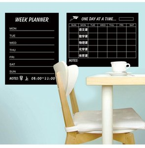 Programma settimanale Blackbord Piano mensile Black Chalkboards Rimovibile Wall Sticker Decal Chalk Boards Deco Week Planner