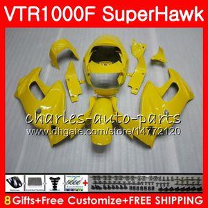 Corpo per HONDA VTR1000F SuperHawk 97 98 99 00 01 02 03 04 05 Stock giallo 91HM2 VTR 1000F 1997 1998 1999 2000 2002 2003 2004 2005 Carena