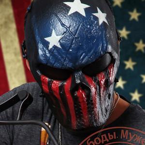 20pcs / lot Capitán Guerrero Máscara Máscaras Militares Al Aire Libre Wargame Paintball Cara Completa Airsoft Tactical Skull Party Máscaras FK2016