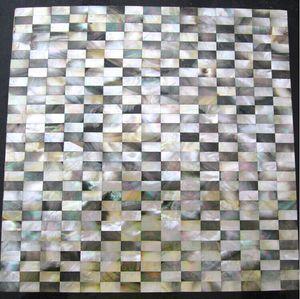 8mm de espessura tijolo preto lábio mãe de pérola shell mosaico backsplash telhas MOP103 pérola shell telha banheiro ouro mãe de pérolas telhas