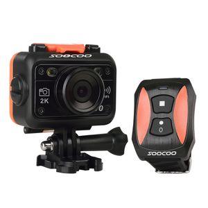 Nueva cámara original de la acción de SOOCOO S70 NTK96660 2K 60FPS impermeable 60M Resolución H.264 Buildin WIFI Reloj de la cámara de control remoto shippi libre