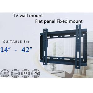 """Supporto TV schermo piatto a montaggio fisso per TV a montaggio piatto HDTV con compatibilità VESA per TV al plasma a LED da 14 """"~ 42"""" LCD al plasma"""
