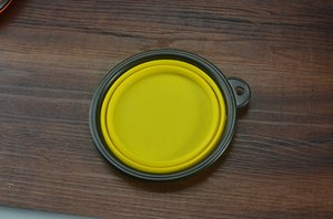 Wholesale-Silicone Collapsible Feeding Water Feeder Travel Bowl Dish Cats bowl Dog Supplies Free shipping Soo6