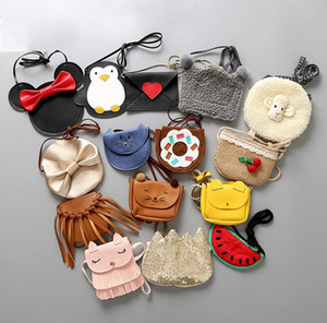 Mignon enfants mûres sacs de monnaie petites filles sacs messageres de lapin bébé filles chat messager sacs sacs de décoration de mode animal sacs cadeaux