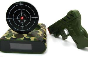 Камуфляж мода механические Relogio новинка ЖК лазерная пушка съемки целевой проснуться будильник часы гаджет весело электронные игрушки с коробкой