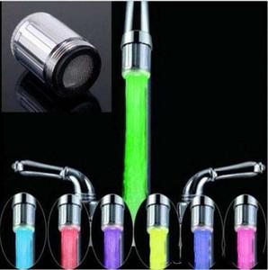 7 Farbe RGB Bunte LED-Licht Wasser Leuchten Wasserhahn Kopf Home Badezimmer Dekoration Edelstahl Wasserhahn c285