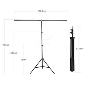 Freeshipping 152cm x 200cm Fotografie-PVC-Hintergrund-Hintergrund-Stützstand-System-Metall mit 3 Klammern