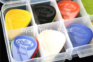 50pcs Alice Projetando Nylon Violão Elétrico Escolhas palhetas + 1 Plástico Escolhas Box Caso Titular frete grátis