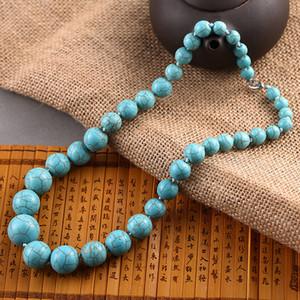 Klassische Größen sind verschiedene Runde Türkis Perlen Halskette Calaite Stein Kette Halsketten Frauen Choker Aussage DIY Schmuck