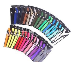 600 adet 2016 askı Ayarlanabilir Braces Şeker Unisex Pantolon üzerinde Klip Y-geri elastik Askı Braces erkekler jartiyer ücretsiz kargo