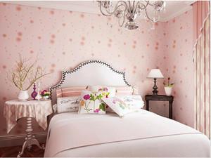 뜨거운 판매 벽화 월 10m 벽지 월페이퍼 키즈 침실 롤 따뜻한 꽃 벽 스티커