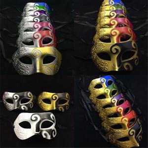 Vintage Mens Partito Masquerade Baron Maschere Cavaliere Romano Carnevale di Halloween Chirstmas Maschera Disegno Maschere Sfera Veneziana Regali Novità K963