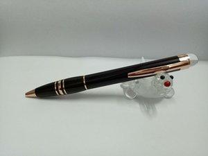 Venta caliente MB-alta calidad mejor diseño Crystal series negro rosa oro clip bolígrafo sin caja original