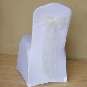 Yeni Varış 18X275 cm Ipek Kumaşlar Organze Kurdele Yaylar Düğün Ziyafet Sandalyeler Kelebek Sashes Düğün Dekorasyon Malzemeleri Için