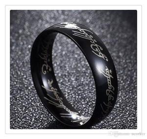Топ популярного позолоченного нержавеющей стали Хоббит и лорда кольца Кольца Свадебный обручальный коктейль Размер 6 -13 Подарки для мужчин