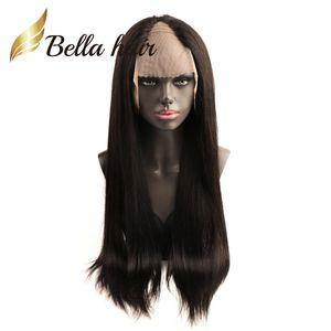 BellahAir 130% 150% U Bölüm Dantel Peruk Klipler ile Düz Perulu Saç Peruk 24 inç Uzun Düz İnsan Saç Dantel Ön Peruk Ayarlanabilir