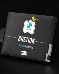Bastion wallet Boo doo de robot purse Game short long cash note case Money notecase Leather burse bag Card holders