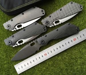 OEM SMF Fibre de carbone Poignée en titane D2 lame Rondelle en cuivre Couteau pliant utilitaire de cuisine en plein air Couteaux multi EDC Outils