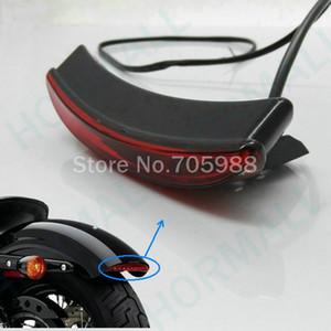 할리 Bobber Chopper 쥐를위한 유니버설 레드 오토바이 테일 라이트 오토바이 브레이크 라이트