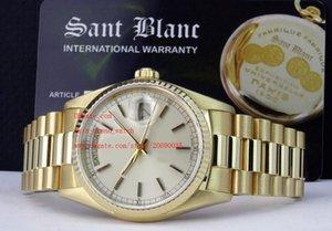 Fornitore della fabbrica lusso superiore qualità 36 millimetri polso dello zaffiro 18kt oro Watch Watches 18038 Uomo Automatico della Mens meccanico