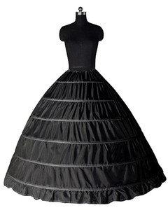 أبيض أسود الكرة بثوب 6 الأطواق التنورة الداخلية الزفاف زلة قماش قطني تحتية الزفاف زلة 6 هوب تنورة قماش قطني لاللباس Quinceanera CPA206