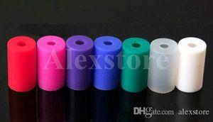 Silicone Embouchure Couvercle Silicon Drip Tip Jetable En Caoutchouc Coloré Test Conseils Cap Tester Individuellement Paquet Pour CE Clearomizer E cig DHL