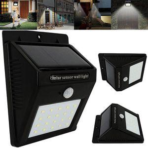 Nouveau 20 LED Solar Power Spot Light Capteur de mouvement Outdoor Garden Wall Light Lampe de sécurité Gutter Waterproof Lampes de sécurité WX9-175