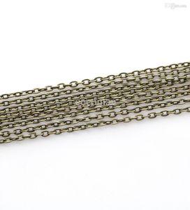 Wholesale-5m / lot العتيقة البرونزية مطلي كابل وصلة سلاسل النتائج لصنع المجوهرات ديي