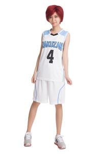 Kuroko No Basuke Cosplay Akashi Seijuro RAKUZAN NO.4 Basketball Uniforms for party or halloween