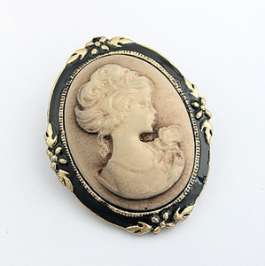 New Hot Selling Beauty head Vintage Brooch Retro Cameo Individuality Pin Brooch  Collar pin Retro Corsage Pin Y009