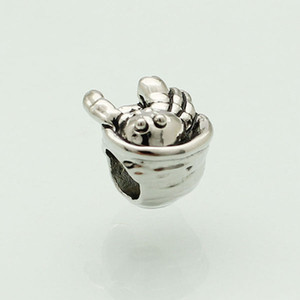 breloques en métal crabe des bijoux femme personnalisée perles européenne Sealife bracelet avec grand trou Pandora Chamilia Compatible