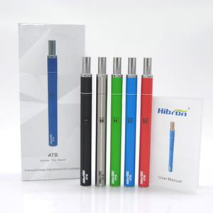 Original Hibron ATB Starter Kit 510 préchauffage Batterie Ouverte 400 mAh tension variable 1.5ohm 0.5 ml stylo cartouche vape remplaçable DHL