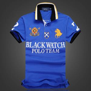 РАЗМЕР США дизайнер рубашки поло мужчин рубашки поло футболки черные часы POLO TEAM Пользовательские Fit Over размер размер UK ЕС
