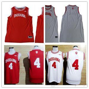 Benutzerdefinierte Mens Indiana Hoosiers College Basketball rot weiß personalisierte genäht jeden Namen jede Zahl angepasst 11 4 40 Trikots S-3XL