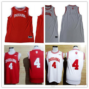 Custom Mens Indiana Hoosiers College 농구 빨간색 흰색 맞춤형 바느질 된 이름 모든 번호 맞춤형 11 4 40 유니폼 S-3XL