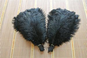 100pcs / lot piuma dello struzzo piume di struzzo piuma nera per il matrimonio centrotavola decorazione coetumes decorazione festa nuziale
