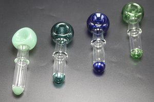 Factory Price Colorful Glass Spoon Pipes Tobacco Dry Herb Glass Hand Pipes Hand Made Well Crafted Smoking Pipes