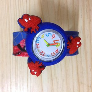 Yeni Örümcek-adam Karikatür Tokat saatler Dönen Spinner Çocuk Kol Saati Şeker bandı Prenses Karikatür Yapış Tokat Silikon öğrenci saatler