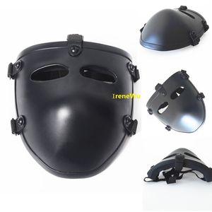 Оптовая армия арамид кевлар баллистические половина Маска тактический боевой Маска охота защитная маска баллистические лицо обложка NIJ уровень IIIA 3A